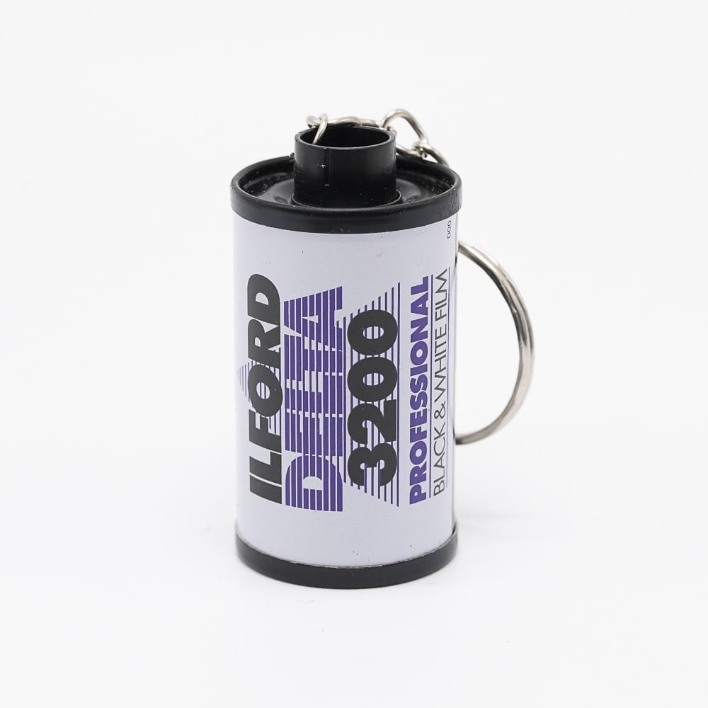 Recycled film canister turned into a keychain