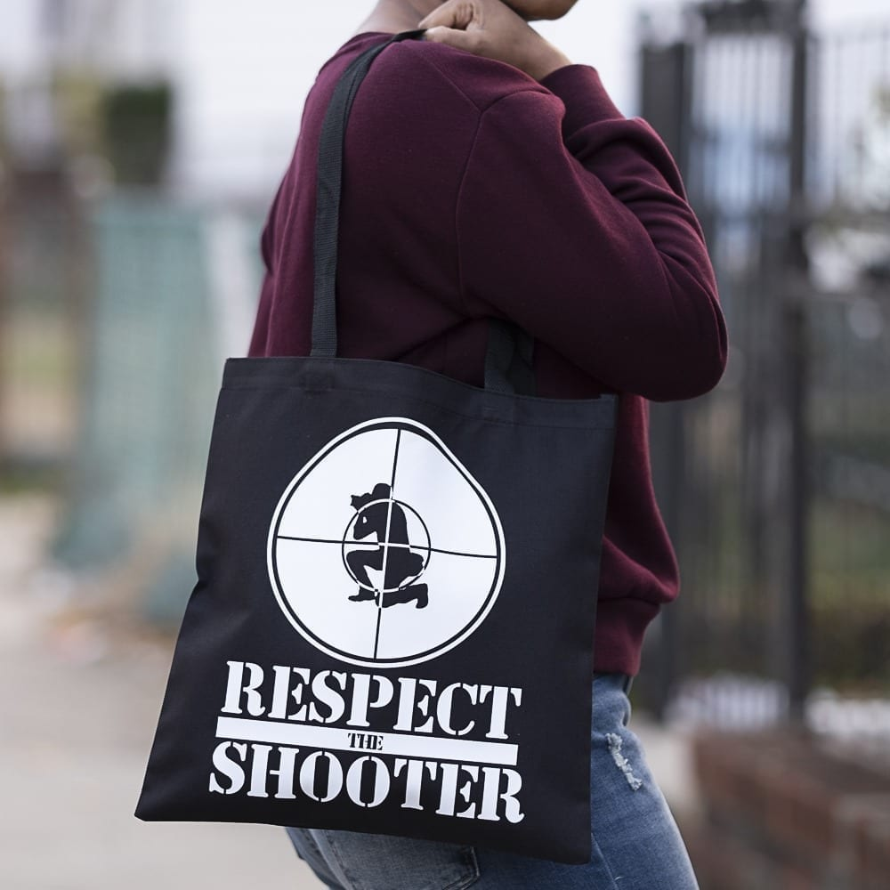 Respect the Shooter Canvas Tote Bag