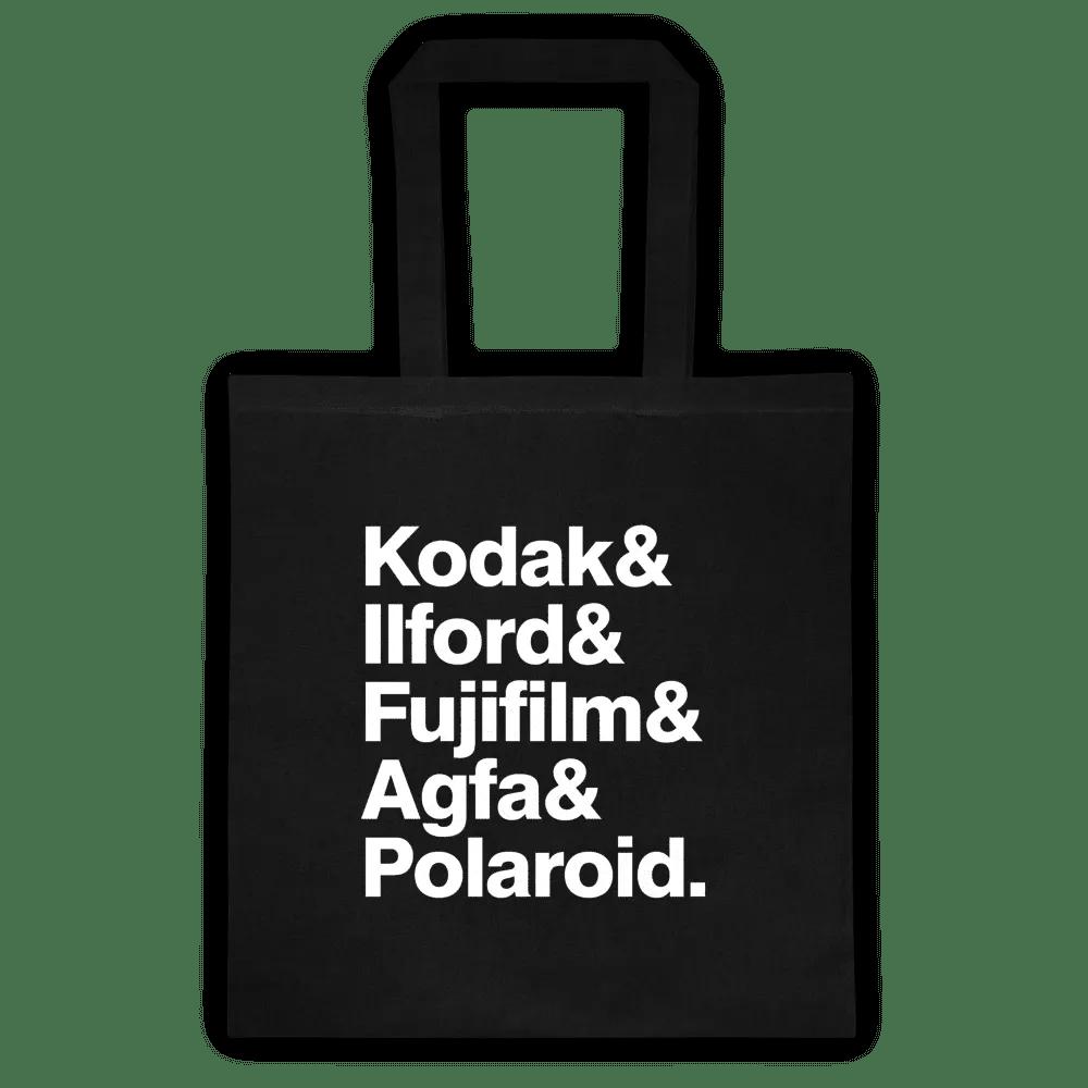 Kodak, Ilford, Fujifilm, Agfa and Polaroid Canvas Tote Bag