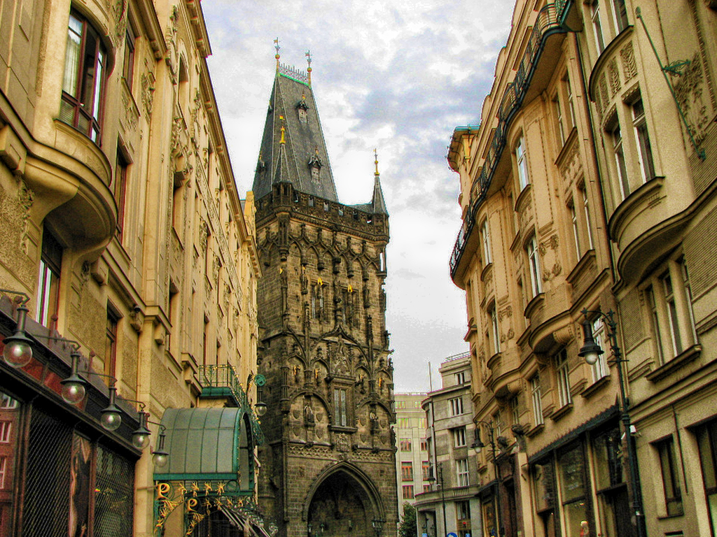 The streets of Prague.