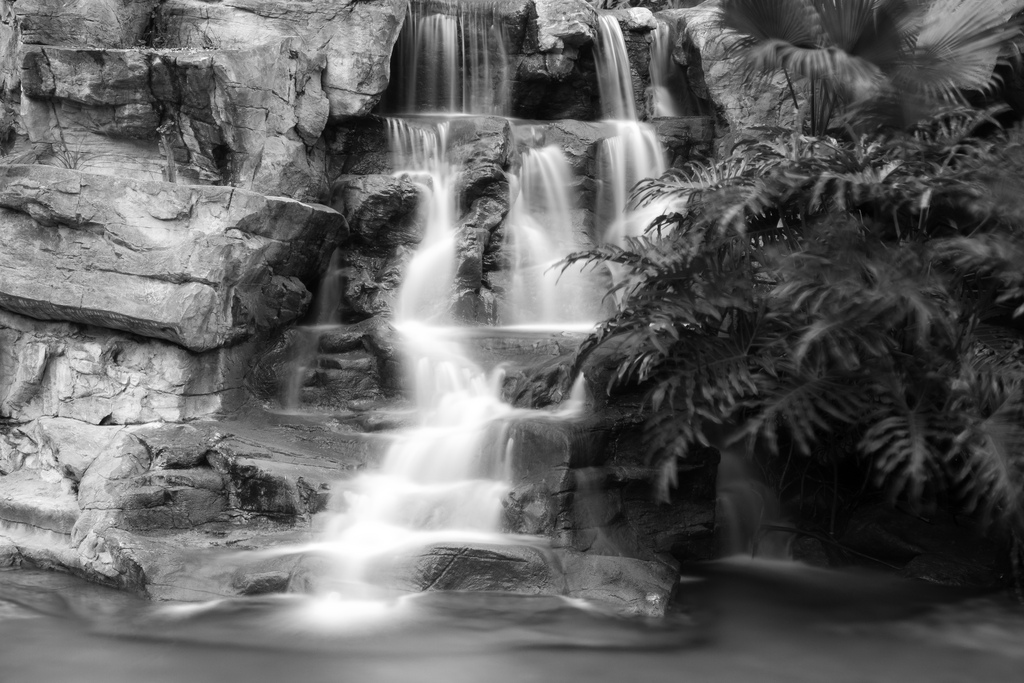 Waterfalls are often popular subjects of long exposure shots.  Photo by See Ming Lee.