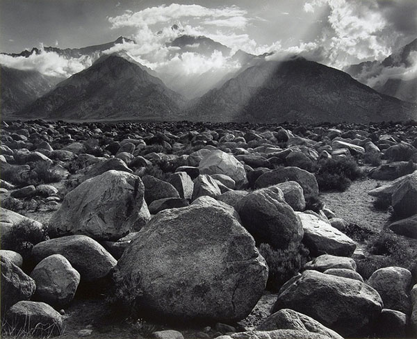 Ansel Adams was known for high-contrast black-and-white landscape work.  Photo by Il Fatto Quotadiano