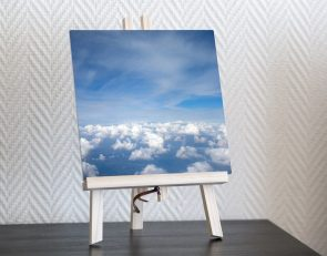 above the clouds square print