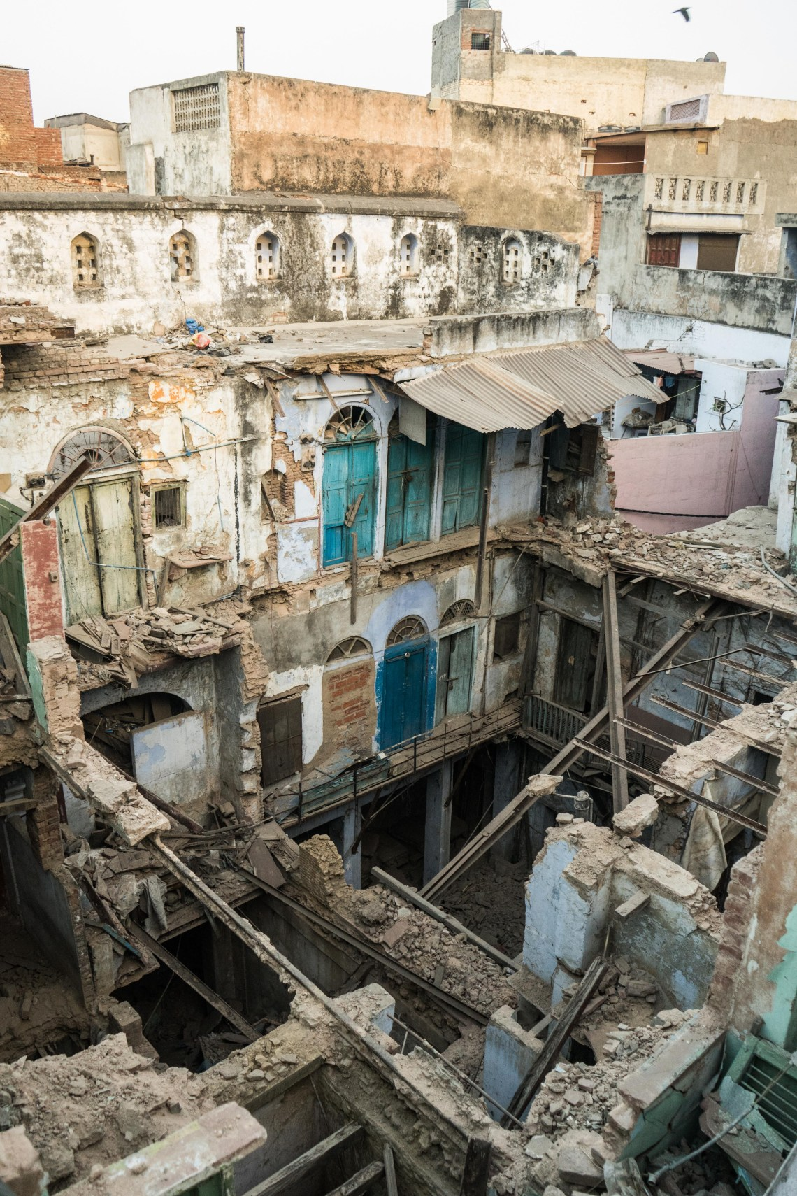 A view behind the first house fronts shows how poor parts of Delhi really are...