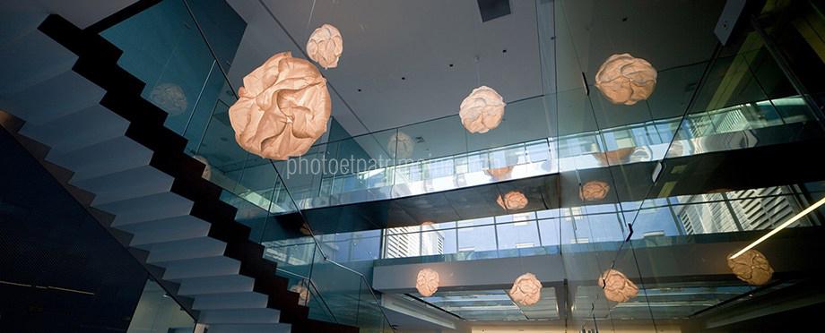 Hôpital de Cannes, le hall principal © Michel Bourguet