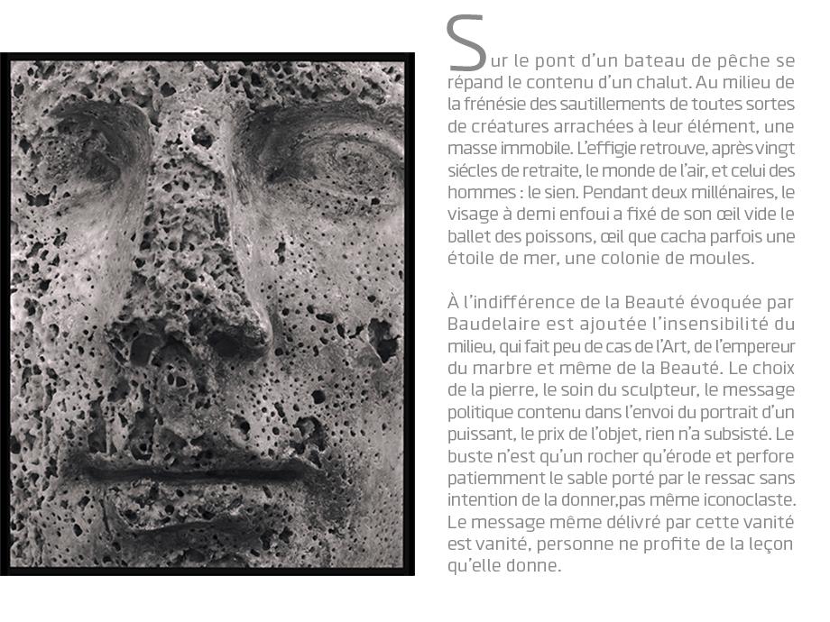 Arles, le buste d'Auguste © Michel Bourguet - texte : Jean-Marc Bernard