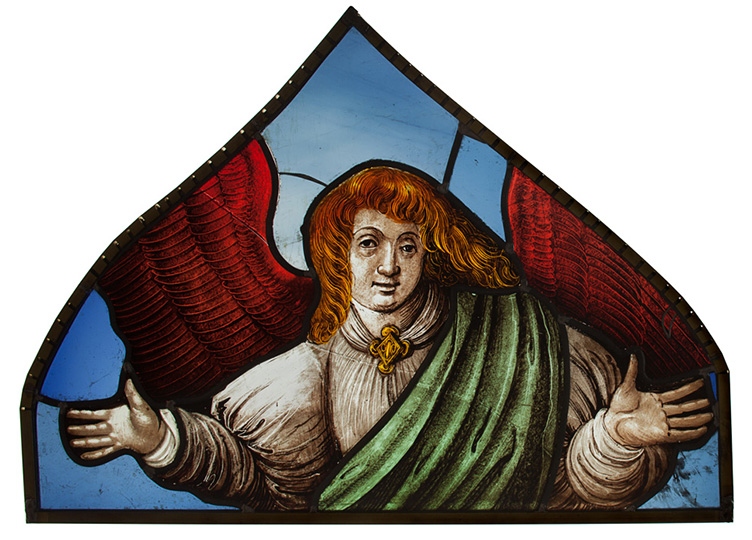 Ange, fragment de lancette, Musée Lorrain, Nancy