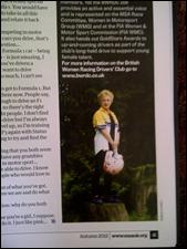MSA magazine Autumn edition on the BWRDC