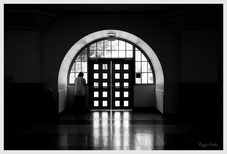 Peering Outward, Union Station, Los Angeles, CA, ©2016 Reginald Foster, All Rights Reserved