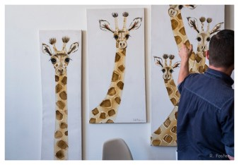 Giraffes Peeping, The Brewery Artwalk 2016, Los Angeles, CA