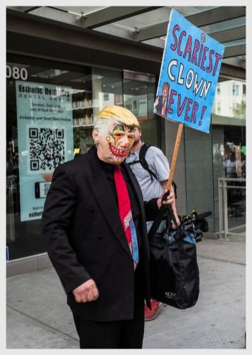 Scariest Clown EVER!, Anti-Trump Protest, November 2016