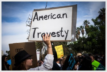 Our Travesty, Anti Trump Rally at MacArthur Park ,Los Angeles, CA, November 2016, ©2016 Reginald Foster, All Rights Reserved
