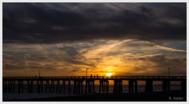 Sunset at Hueneme Pier