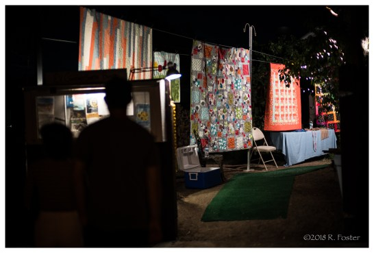 Quilts on display, 2018 Frogtown Art Walk