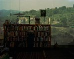 Abelardo Morell, Camera Obscura: View of Landscape Outside of Florence in Room whith Bookcase, Italy, 2009 Pigment Ink Print © Copyright Abelardo Morell / Courtesy Bonni Benrubi Gallery, NYC