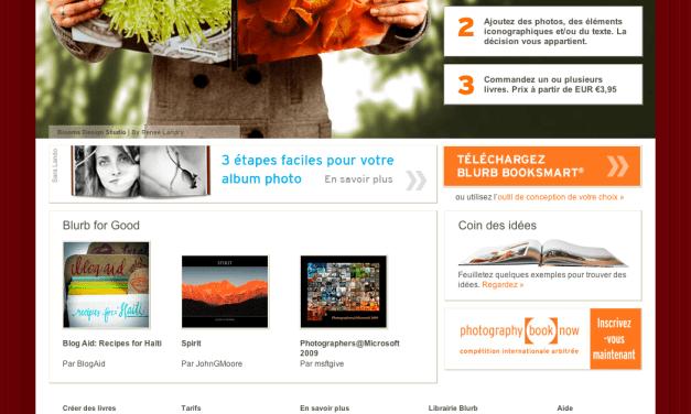 Blurb : les livres photo maintenant en français