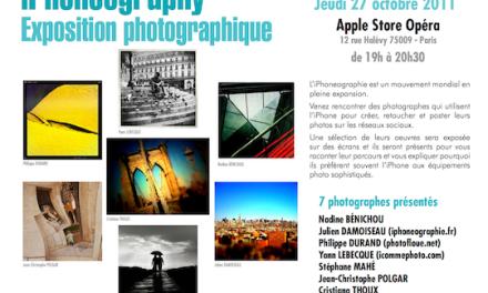 iPhoneography : exposition et rencontre à l'Apple Store Opéra