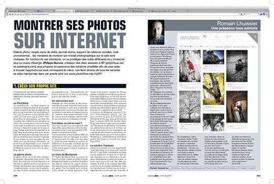 Montrer ses photos sur internet
