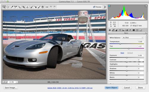Adobe Camera Raw 7.3