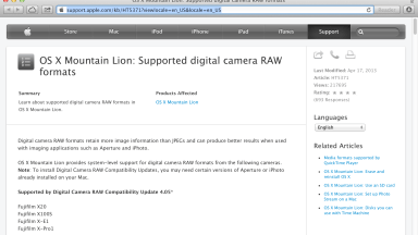 New Mac Support for Fuji, Leica, Nikon, Pentax, and Sony Cameras