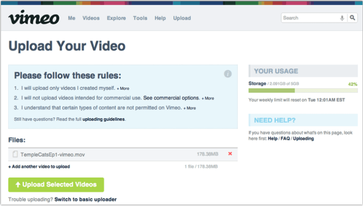How to Post Your Video to Vimeo | Photofocus