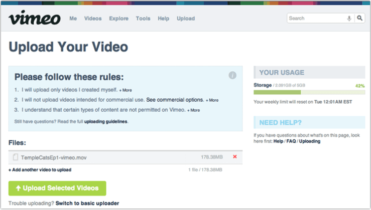 upload selected videos1