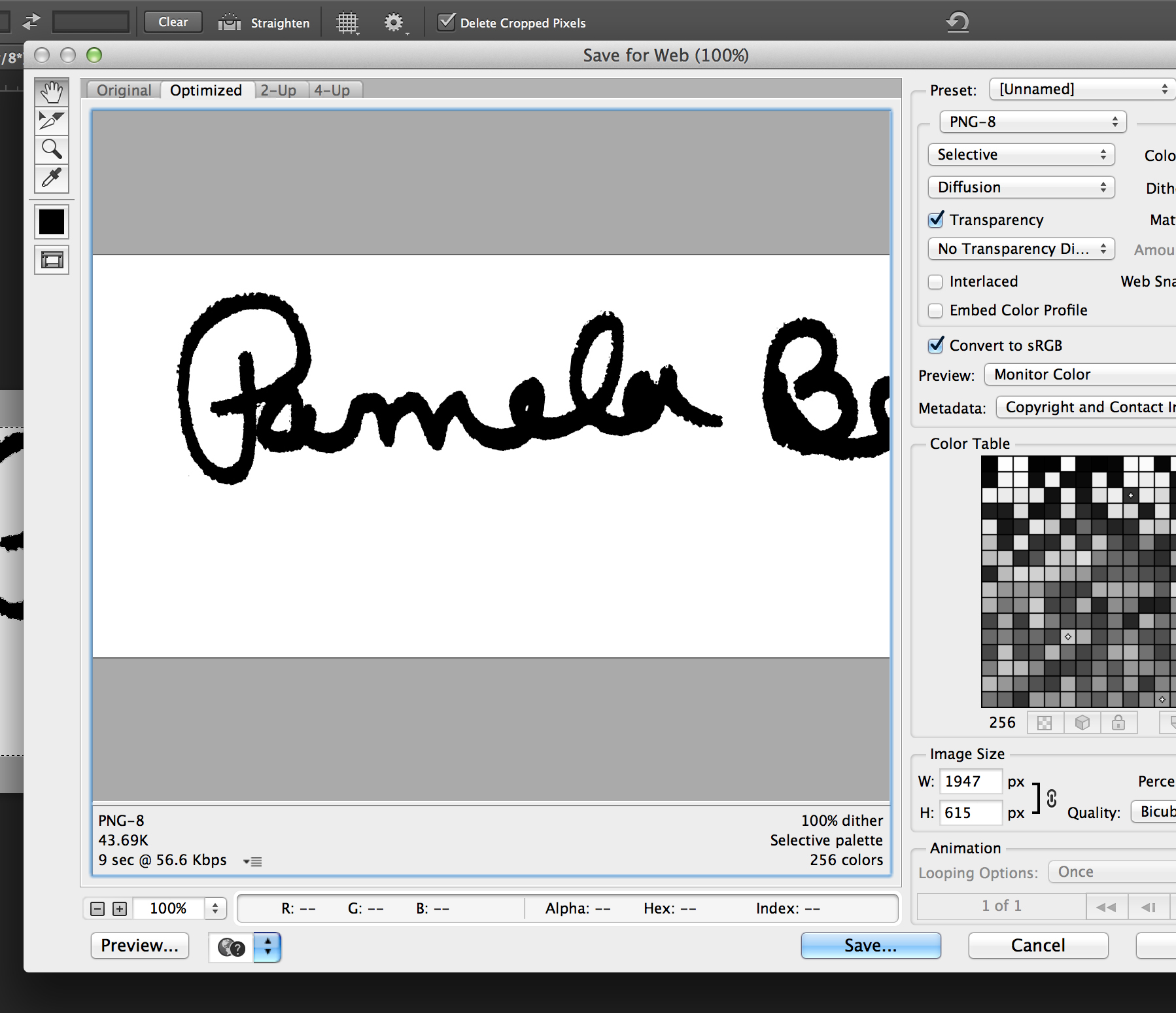 Creating a Signature Watermark with Adobe Photoshop CC