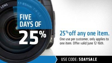 Save 25% at LensRentals.com This Week