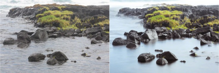 (Left) 1/10 sec; (Right) 6 sec