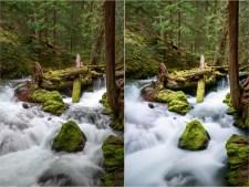 (Left) 1/8 sec; (Right) 40 sec