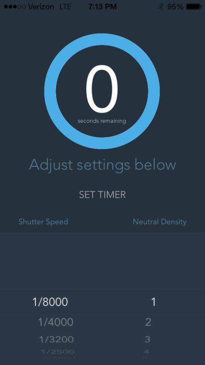 Interface of Slower Shutter