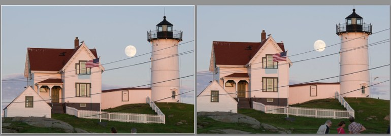 Figure 3: The two versions of the subject to be combined in Photoshop.