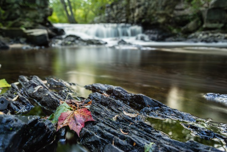 The 10-stop ND filter really smoothed out the water in the background to make the foreground stand out.