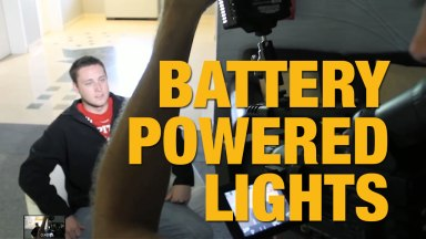 Using Battery Powered Lights