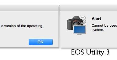 Canon EOS Utility vs OSX Yosemite