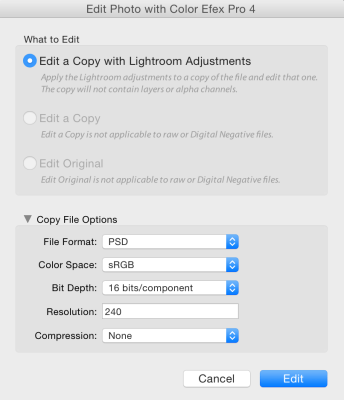 LR's external editor offers in depth specifications for your files.