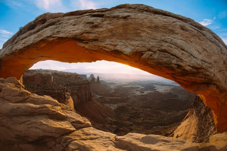 Using my fisheye lens, I was able to put a bit more of my signature with this composition of Mesa Arch.