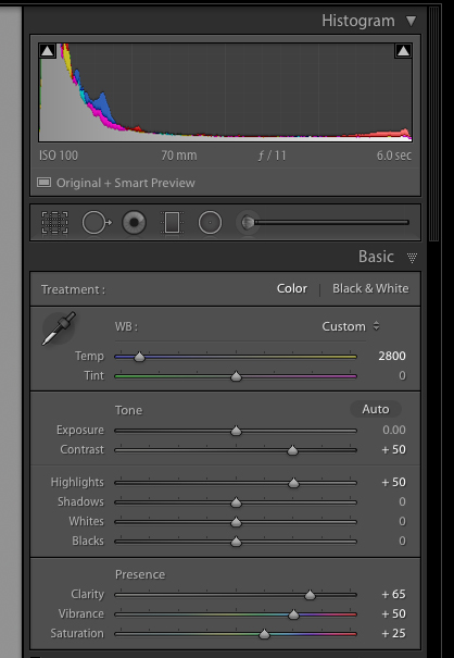 Use these settings as a start for getting the most color from fireworks photos.