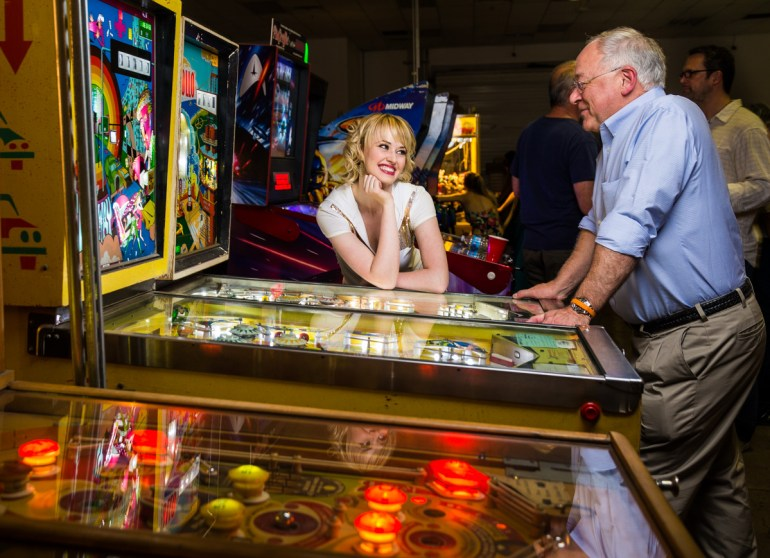 Jennie Carroll and Tom Curley at the Pinball Hall of Fame Photofocus Party