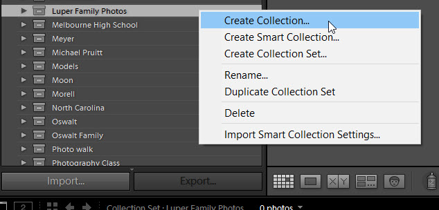 2c Right click to create a collection