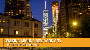 Walking around New York City with the Platypod Pro