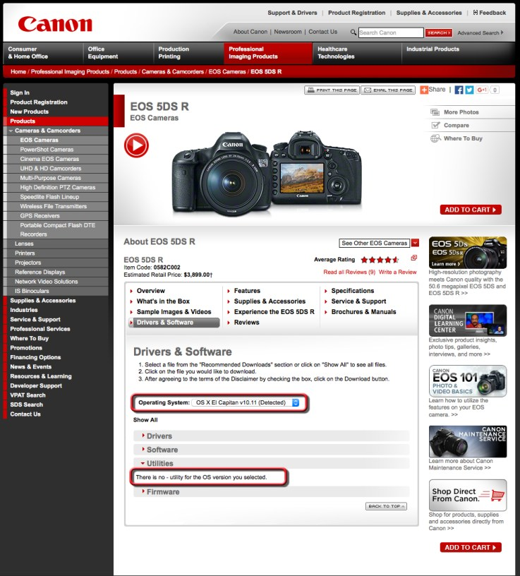 While it seems scary, the lack of updates for Canon's utilities doesn't matter.