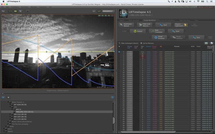 LRTimelapse Plugin Screen