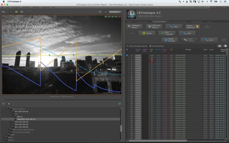 LRTimelapse Plugin Screen