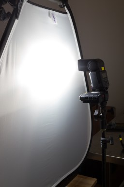 This shows the light setup from behind.