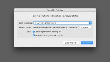 Backing Up Your Lightroom Catalog