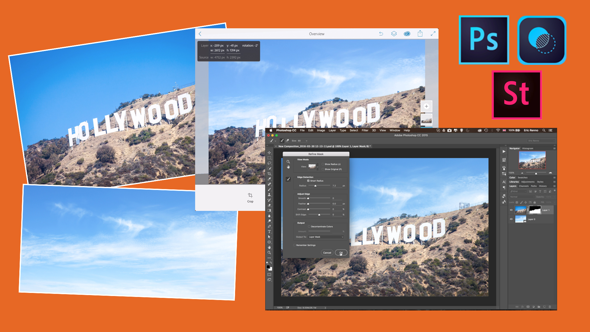 Replacing A Sky with Adobe Photoshop Mix and Photoshop CC