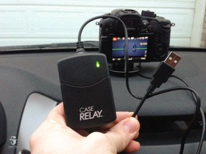 The Case Relay has a USB plug for power in addition to the built-in battery.
