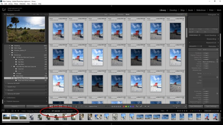 Select all image in Lightroom