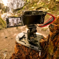 """Platypod Max's 1/4"""" 20 threaded legs kept my GX8 on a stump at Ramona Falls on Mt. Hood. That's the Spider Lite Hand Strap on my GX8--it's such a great strap."""